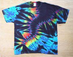 Prism Tie Dye by tiedyetodd on Etsy from tiedyetodd on Etsy. Shop more products from tiedyetodd on Etsy on Wanelo. How To Tie Dye, How To Dye Fabric, Tye Dye, Tie Dye Bedding, Diy Tie Dye Shirts, Fold Shirts, Tie Dye Crafts, Shibori, Tie Dye Designs