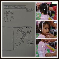 Tudung sekolah Sewing Lessons, Sewing Hacks, Sewing Tutorials, Sewing Projects, Love Sewing, Sewing For Kids, Sewing Diy, Baby Sewing, Clothing Patterns