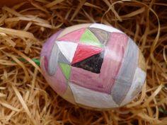 Handgemaltes Ei, abstrakt.