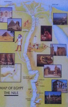 Carte du Nil en Egypte