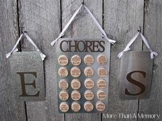 Custom Chore Chart System: For Two via Etsy