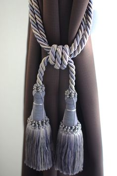 Curtain tassel.