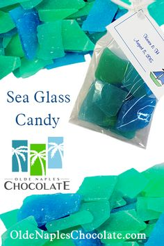 Olde Naples Chocolate makes edible sea glass in traditional sea colors or any color you need to fit your needs. Our sea glass is a great addition to you wedding cake, summer themed cake or cupcakes.  Use our edible sea glass candy to make your own wedding or party favors.  Don't have the time to diy? We can make them for you. Our party favors come complete with customized tags with your personalized information.