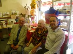 Alf, Jeremy and Marjorie. Marjorie was the first of us demonstrators and tutors and work with Alf.