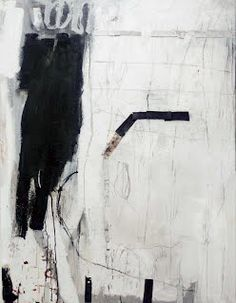 Terri Brooks Tracks, 1998. Oil, pencil and collage on canvas, 122x91 cm. Private collection.