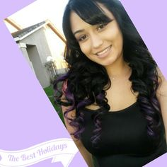 Black with purple extentions! Hair by Lisa Marie Sepulveda!