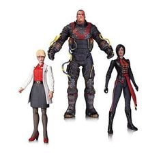 DC Collectibles Batman Arkham Origins Electrocutioner, Harleen Quinzel, and Lady Shiva Action Figure 3-Pack