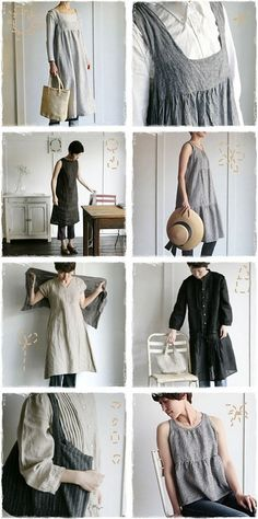 Fog linen works - beautiful, easy clothing for the Mori in all of us Mori Fashion, Cute Fashion, Fashion Outfits, Modest Fashion, Dress Fashion, Beautiful Outfits, Cool Outfits, Mein Style, Mode Chic