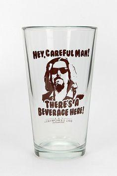 Big Lebowski Pint Glass