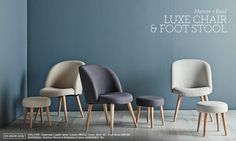 Luxe Chair & Foot Stool ($350 + $100 Adairs)