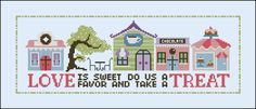 Sweet Temptations Lane - Houses and Lanes - Cross Stitch Patterns - Products