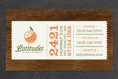 Latitudes Branding: Designed by 3 Advertising | Country: United States