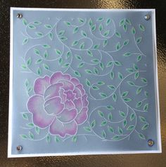 Card made on parchment with #ClarityStamp's #groovi plate