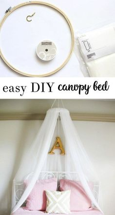 diy canopy bed | girls bedroom | diy crafts | ikea crafts