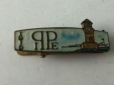 PPIE Pan Pacific Int'l Expo 1915 Enamel Mile Rock Lighthouse San Fran Tie Clip -- Antique Price Guide Details Page