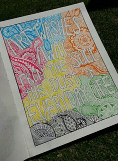 Art washes away from the soul the dust of everyday life #mandala #zentangle #art #artist #colours #wallpaper #picture #quotes