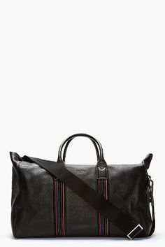 Paul Smith Pebbled Leather Duffle Bag Mens Weekend Bag ea9b0af3d7bf8