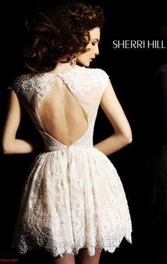 •Sherri Hill open back lace cocktail dress• RA