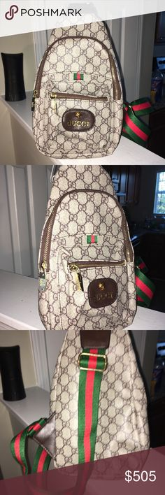 GUCCl🐝crossbody Backpack Need one today Will accept reasonable offers  Gucci Bags Backpacks b29614e4c89f9