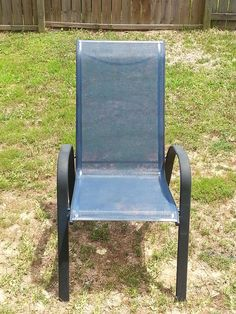 painted patio chair she used latex indoor paint on mesh summer