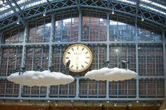 """'Cloud I Meteoros,"" - inside St Pancras station London."