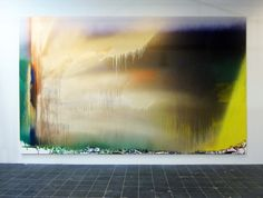 Katharina Grosse - Ohne Titel, 2013 acrylic and spraypaint on canvas framed 364 x 604 x 4,5 cm