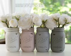 "Painted Mason Jar Annie Sloan Duck Egg Blue. Visit local Annie Sloan Chalk® Paint Stockist. ""Annex of paredown"" all things Annie Sloan"