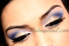 Soft Blue and Gold Look