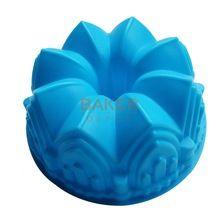 Grande coroa de silicone molde do bolo ferramentas de cozimento de microondas novidade bolo pão moldes moldes molde pastelaria SCM-003-4(China (Mainland))