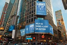 Thomson Reuters Building - Times Square, NYC Light It Up Blue