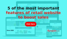 Increase product sales of your RETAIL WEBSITE by adding 5 top ECOMMERCE PLATFORM features.   Get optimum benefits from WEBSITE DEVELOPMENT COMPANY, SynapseIndia to expand your business. Website Development Company, Ecommerce Platforms, Retail, Ads, Business, Store, Business Illustration, Sleeve, Retail Merchandising