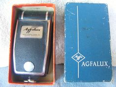 Vintage Agfalux Agfa Camera Flash Type 6871 Original Box Munchen Germany Pre-War #Agfalux