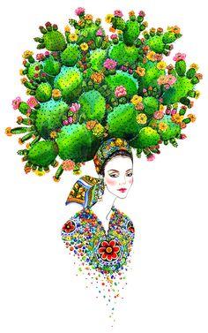 Dolce & Gabbana Mädchen-Floral Mode-Portrait