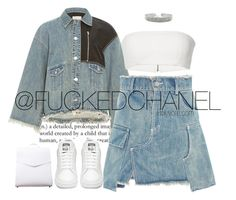 """"""""""" by fuckedchanel ❤ liked on Polyvore featuring Sandy Liang and Vere Verto"""