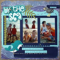 Amys Collages and Other Scrap Stuff: By the Sea Layout