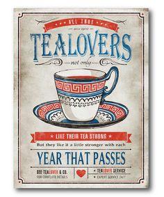 'Tea Lovers' Vintage Wall Art