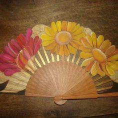 ABANICOS DISIMUSA Painted Fan, Hand Painted, Hand Held Fan, Hand Fans, Chinese Fans, Antique Fans, Fan Decoration, Old Fan, Paper Fans