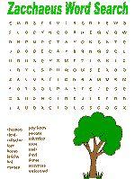 Zacchaeus wordsearches
