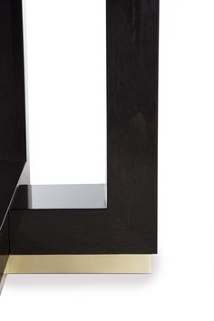 DAVIDSON London- The Hamilton Table in dark tinted oak and brushed bronze