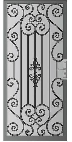 Security Screen Doors Archives - Whiting Iron and Great Gates in Phoenix AZ Grill Gate Design, Window Grill Design Modern, Steel Gate Design, Iron Gate Design, House Gate Design, Wrought Iron Security Doors, Wrought Iron Doors, Front Door Design Wood, Iron Decor