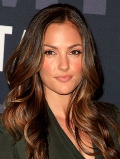Minka Kelly. I think about her hair every day, I need to just go to my hair stylist and do it!