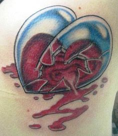 The 39 Best 3d Heart Tattoos Images On Pinterest Heart Tattoos