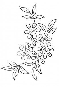 flower embroidery pattern