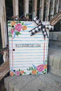 Teacher Door Signs, Teacher Door Hangers, Teacher Doors, Painted Doors, Painted Signs, Hand Painted, Teacher Appreciation Gifts, Teacher Gifts, Ms Teacher