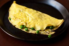 Petit Pea Omelet with Mint and Mascarpone