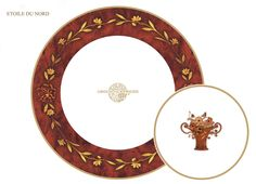 """Villeroy & Boch dinnerware on the legendary Orient-Express. Designed for the """"Cote d'Azur Dining Car"""" to compliment the mostly wood decor."""