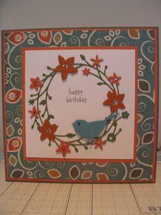 Memory Box Dies: Catalina Wreath and Reedbird