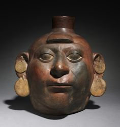 Peru, North Coast, Moche style (50-800), earthenware with colored slips, Overall - h:30.50 w:28.90 d:25.00 cm (h:12 w:11 3/8 d:9 13/16 inches). Gift of Guerdon S. Holden 1930.627
