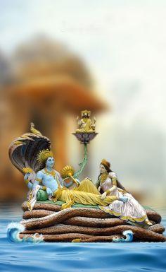 Vishnu and laxmiji - Krishna Lord Krishna Images, Radha Krishna Pictures, Radha Krishna Photo, Shree Krishna, Ganesh Images, Krishna Art, Lord Ganesha Paintings, Lord Shiva Painting, Ganesh Lord