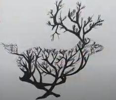 Animal Drawings, Cool Drawings, Deer Drawing, Drawing Skills, Moose Art, Cool Stuff, Creative, Animal Paintings